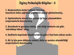 İlginç Psikolojik Bilgiler - 3