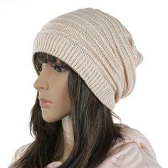 Free shipping Women Knitted Hat Cap - Beige