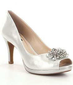 1a7c77e386f2e Alex Marie Jazmin Pumps Peep Toe Wedding Shoes