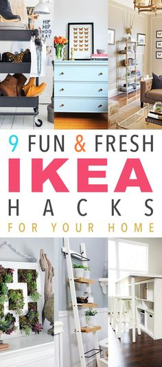 9 Fun & Fresh IKEA Hacks For Your Home. These are going to make you smile! They are awesome and oh so budget friendly!
