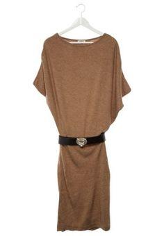 Strikket kjole - brun