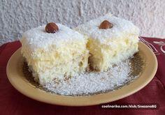 Rafaelo kocke, predobre i ukusne Bosnian Recipes, Croatian Recipes, Baking Recipes, Cake Recipes, Dessert Recipes, Rafaelo Cake, Kolaci I Torte, Czech Recipes, Food Cakes