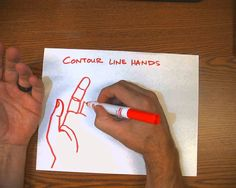 Contour Line Hand Drawings
