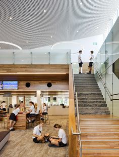 Completed in 2016 in Sunshine Coast, Australia. Images by Christopher Frederick Jones . Wilson Architects has designed a new Learning Hub for St Andrew's Anglican College – a rapidly-growing school on the Sunshine Coast. The Learning. School Images, School Community, College Years, Railing Design, Learning Spaces, Architecture Details, Architects, Australia, Activities