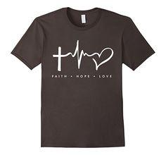 Men's Faith Hope Love Shirt - Gift For A Christian God Fan Shirt 3XL Asphalt