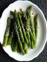 Easy Asparagus with Soy Sauce and Sesame Recipe - Viet World Kitchen