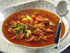 Kolbászos vöröslencse leves recept