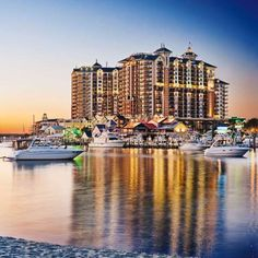 Evening View from Wyndham Vacation Resorts Emerald Grande at Destin #travel #couples #getaway #luxury #resort #family #beach #sand #sun #FL #oceanside #beachfront