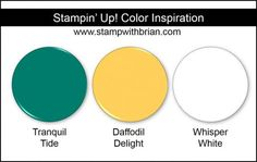 Stampin' Up! Color Inspiration: Tranquil Tide, Daffodil Delight, Whisper White