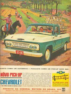 Chevrolet C-14, 1964. Bonito como um carro e possante como uma picape deve ser. Jolie comme une voiture et costaud comme se doit un pickup. Beautiful as a car and tough as a pickup should be.