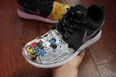 What the Disney Nike Roshe Run Black Custom Mickey & by NYCustoms