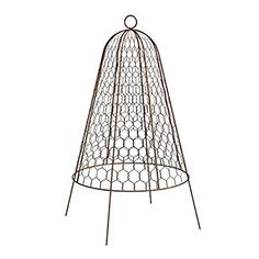 Metal Planter Cloche at Lowe's. Garden cloche plant protector bell keeps rodents from eating young plants! The rust colored powder coating compliments the natural look and feel of your Backyard Garden Landscape, Small Backyard Gardens, Small Space Gardening, Outdoor Gardens, Balcony Garden, Backyard Trees, Tropical Backyard, Backyard Paradise, Modern Backyard