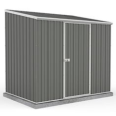 Garden Sheds 7 X 3 tall metal garden shed - 7 x 3 ft (supplied flat pack) secure
