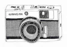 olympus-pen ink on paper, 2009 olympus-pen (by christie yuri noh ) Camera Illustration, Gravure Illustration, Camera Drawing, Camera Art, Pen Camera, Art Shed, Foto Fun, Photography Tools, Photography Hashtags