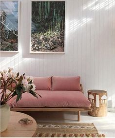 Currently Crushing Hard: Dusty Rose Pink Velvet Seating   Apartment Therapy