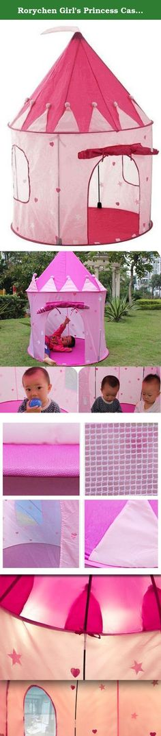 96d9a661dcdb Rorychen Girl s Princess Castle Play House Baby Kids Indoor Outdoor Play  Tents Pink. A