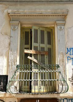 Doors & Windows, Sealed (The Neoclassical Metaxourgio, Athens) Shattered Glass, Neoclassical, Facades, Chefs, Home Appliances, Windows, Doors, Architecture, Greece