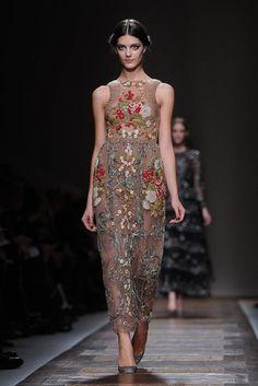 Botanical beauty at Valentino Paris  Fall Fashion Week '12