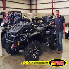 Thanks to Dwayne Boyette from Pope MS for getting a 2017 Can Am Outlander Xmr 1000. @HattiesburgCycles