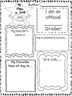 first day of school writing activities for 2nd grade