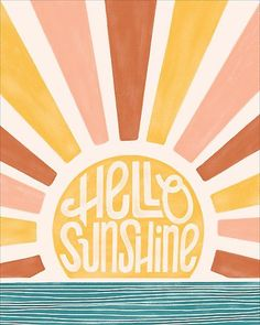 great names Hello sunshine! Wake up to a gorgeous sunrise over the water every morning with this design.<br><br>Designed right here at Paper Source.<br>Printed on Mohawk superfine white 13 Collage Mural, Bedroom Wall Collage, Photo Wall Collage, Wall Art Collages, Quote Collage, Poster Collage, Wall Collage Decor, Photo Canvas, Cute Canvas Paintings