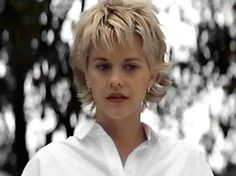 I love this short, choppy cut that Meg Ryan wore in French Kiss.