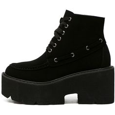 Black Faux Leather Lace Up Platform Ankle Boots (700 ARS) ❤ liked on Polyvore featuring shoes, boots, ankle booties, short boots, black platform ankle booties, black ankle boots, black ankle booties and black bootie boots