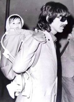 George Harrison and Dhani Harrison (This is just too cute!)