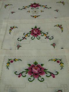 This Pin was discovered by müf Cross Stitch Letters, Cross Stitch Rose, Cross Stitch Borders, Cross Stitch Samplers, Modern Cross Stitch, Cross Stitch Flowers, Cross Stitch Designs, Cross Stitching, Cross Stitch Embroidery