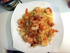 "Shrimp Scampi! 4.55 stars, 85 reviews. ""Very easy to make and it was delicious!!!"" @allthecooks #recipe #shrimp #seafood #easy #quick #healthy"