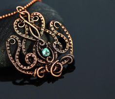 Wire wrapped necklace lotus pendant wire wrapping от OrioleStudio