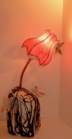 Lampe aux papillons ....un Noël féérique....pour le défi de Novembre : Luminaires par rose-recele
