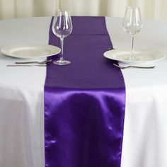 x SATIN Runner For Table Top Wedding Catering Party Decorations - Purple - Pack of 1 Runner High Top Table Kitchen, High Top Tables, Patio Bar Set, Pub Table Sets, Party Catering, Wedding Catering, Catering Ideas, Catering Buffet, Wedding Venues