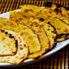 Recipe for Socca (Garbanzo or Chickpea Flatbread Pancake from France) from Kalyn's Kitchen  #SouthBeachDietRecipes #LowGlycemicRecipes