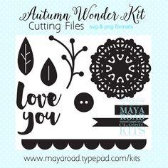 Free Digital Cutting Files from Maya Road Kits in SVG and PNG formats