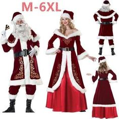Christmas Santa Claus Costumes Costume Collection, Santa, Victorian, Costumes, Christmas, Dresses, Fashion, Xmas, Vestidos