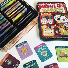 Ain't no party like a Sushi Go party  #BoardGames #SushiGo #SushiGoParty @gamewright