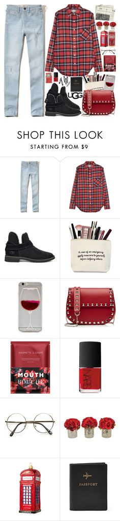 """The New Classics With UGG: Contest Entry"" by martinabb ❤ liked on Polyvore featuring Hollister Co., R13, UGG, Valentino, Nannette de Gaspé, NARS Cosmetics, ZeroUV, The French Bee, Harrods and FOSSIL"