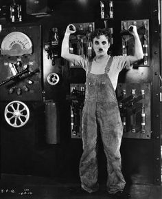 Charlie Chaplin in Modern Times, 1936