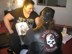 Candy getting her daddy tattooed on her arm by Jamie Mackay Daddy Tattoos, Arm, New York, Candy, Women, Fashion, Sweet, Moda, New York City