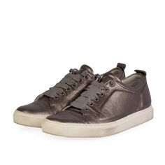 """No woman can ever have enough of that """"go to"""" pair of sneakers of any day, any hour. Lanvin Metallic Leather Sneakers are the perfect pair. Emo Fashion, Gothic Fashion, Silver Accessories, Edwardian Fashion, Metallic Leather, Goth Girls, Leather Sneakers, Lanvin, Afternoon Dresses"""