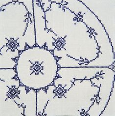 Work of artist Nils Viga Hausken Diy Embroidery, Cross Stitch Embroidery, Cross Stitch Patterns, Royal Copenhagen, Cross Paintings, Knitting Charts, Danish Design, Embroidered Flowers, Cross Stitching
