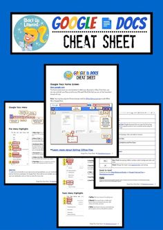 Google Docs Cheat Sheet for Teachers and Students!: Get this easy-to-follow reference guide to help you and your students make the most of Google Docs! #google #gafe
