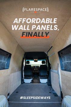 Build A Camper Van, Diy Camper, Camper Ideas, Sprinter Van Conversion, Camper Van Conversion Diy, Custom Crates, Slider Door, Van Wall, Van Home