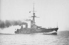 Japanese battleship Fuso running trials, 24 August 1915
