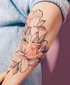 Peony Tattoo - Nora Ink #FlowerTattooDesigns #peoniestattoo