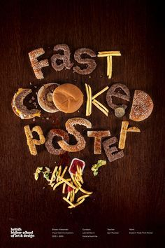 """""""Fast cooked poster"""" student work"""