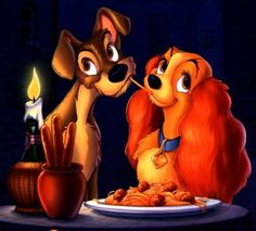 Lady and the Tramp - my daughters' favorite movie when she was little. -dt