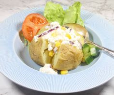 Bakad potatis & Keso