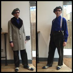 Coat from To Be Worn Again Vintage Clothes #Brighton, cap from Lock & Co Hatters, trousers by #Rospo #Hackney, shoes from Crockett & Jones and spectacles from #Dita in this #OOTD from Dexy's Kevin. #Dexys #vintage #vintagestyle #vintagefashion #vintageclothing